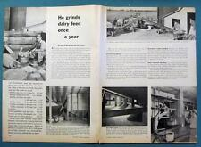 Orig 1959 Dairy Feed Ad Photo Endorsement by Jay Parker of Silver Lake Indiana
