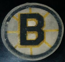1969-77 BOSTON BRUINS  NHL CONVERSE OFFICIAL GAME USED PUCK U.S.A. ART ROSS CCM