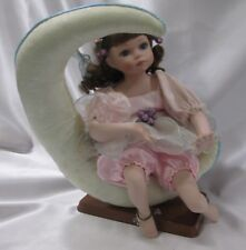 Geppeddo Porcelain 14in Doll Mariah Fairy On The Moon Original Tag Wood Stand