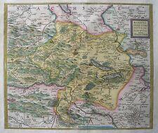 Mansfeldiae Comitatus Descriptio - Grafschaft Mansfeld - Abraham Ortelius - 1579