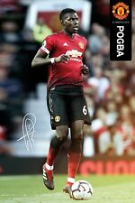Manchester United FC Poster - POGBA 18/19 - New Man Utd Football poster SP1541