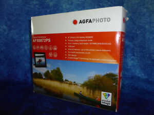 "AGFA PHOTO Digital Photoframe AF50872PS 8"" LCD Display 800x600 Crystal Image NEW"