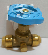 "SharkBite 1/2"" Brass Push-to-Connect Stop Valve with Drain 24634LF"