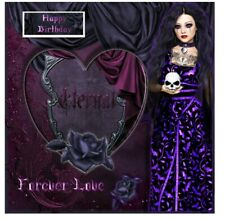 Gothic Eternal Heart Birthday Card PERSONALISATION AND POST FREE