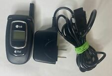 Lg Ax4270 - Black ( Alltel ) Cellular Flip Phone W/Oem charger - Works U6