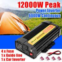 6000W 12000W Peak Power Inverter 12V DC To 110V AC Modified Sine Wave