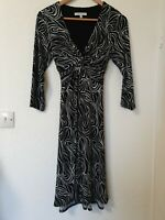 Laura Ashley Abstract Knot Design Stretchy Dress Size 10