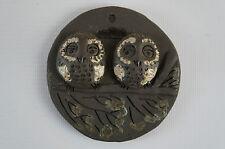 Eulen aus Ton als Wanddekoration, Eulenaufhänger, Dekofigur Sammlerfigur (Nr.59)