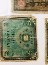 1944 Émis en France Deux 2 Francs Wwii Banknote Plus Other Foreign Currency