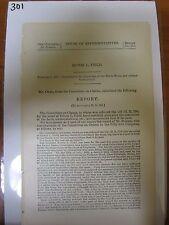 Gov Report 1900 Edwin L Field monetary relief master workman accident #301