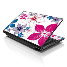 "17.3"" 18"" 19 Laptop Notebook Skin Sticker Protective Decal Flowers Leaves L-6859"