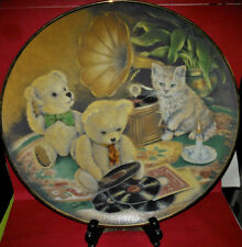 """Collector Plate A Sue Willis Plate Music Hour~8 1/8""""~Fine Porcelain~Teddy Bears"""