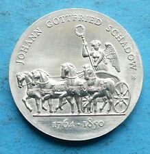 ! DDR GDR Silber 10 Mark 1989 f. unz aunc Johann Gottfried Schadow Quadriga RRR