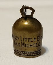 """Mini Brass Bell """"The Lucky Little Bell of San Mitchele"""" complete with clapper"""