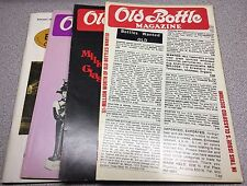 Lot of 4 issues Antique Bottle & Glass Collector Magazine 1982 1989