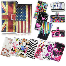Book Flip PU Leather Phone Case Cover with Card Slot for Apple iPhone 4 4S 4G
