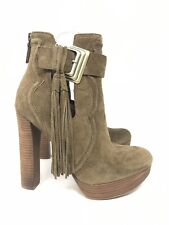 Boutique 9 Fullon 6M Tan Brown Suede Heel Ankle Boots Booties