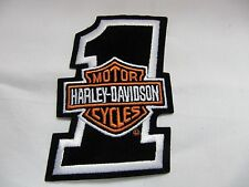 RARE HARLEY DAVIDSON  BAR & SHIELD #1 EMBROIDERED SEW ON PATCH