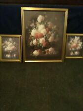 Home Interiors wall art Set Of 3 Floral framed Pictures