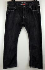 "Request Jeans Mens 42 X 34 Black Bold Stitch Flap Pocket Wiskered W42""  I 33"""