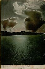 1911 Moonlight on the Kaw Topeka Kansas KS Postcard B18
