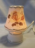 VINTAGE I W RICE IRICE PERFUME WARMER NIGHT LIGHT YELLOW ROSE WORKING JAPAN