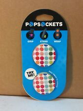 PopSockets Twin Pack Phone Grip PopSocket Universal Phone Holder Polka Dots