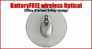 Eco-Friendly Battery Free Wireless Optical Mouse - No Batteries Needed