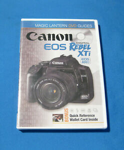 Canon EOS Rebel XTi Magic Lantern DVD Guides Sealed New