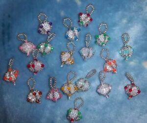 Mini Handmade Beaded Christmas Ornaments
