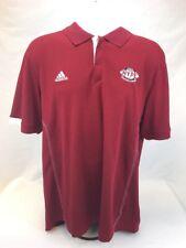 adidas Men's Red Short Sleeve Sideline Polyester Actievwear Polo Sz L