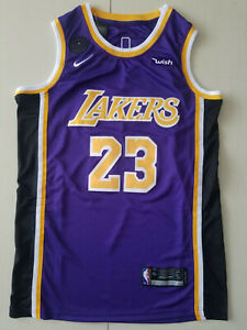 New LeBron James 23 Men Los Angeles Lakers Purple Jersey NBA Finals All Sizes