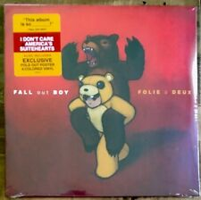 Fall Out Boy - Folie A Deux LP [Vinyl New] Red & Orange Color Double LP + Poster