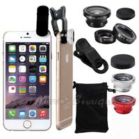 3 in1 Clip Fish Eye+Macro+Wide Angle Lens Camera kit for Apple iPhone/Samsung
