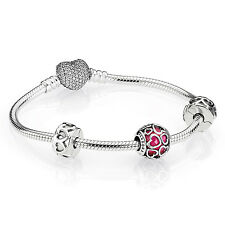 Authentic Pandora Open Hearts Bracelet Mothers Day Gift Heart Box B800381-19 7""