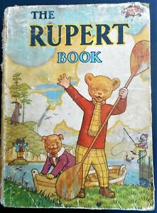 VINTAGE ORIGINAL 1942 RUPERT BEAR ANNUAL, BOOK UNSCRIBED