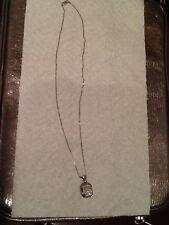 Ladies 14kt White Gold Diamond Necklace Pendant