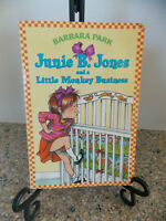 Junie B Jones And A Little Monkey Business Paperback