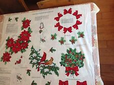 Material sewing Panel Christmas Greenery Wearable Art Poinsettia Spray Bows Bird