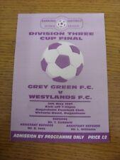 05/05/1997 Barking Sunday League Division 3 Cup Final: Grey Green v Westlands [A