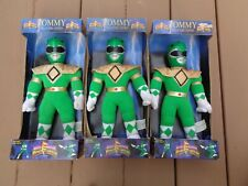 Vintage 1993 Mighty Morphin Power Rangers Green Tommy Plush Toy 12 in. Lot of 3