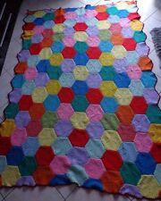 """Couverture en laine """"Fait main au crochet"""" pour lit 1 pers (L: 220cm / l: 153cm)"""