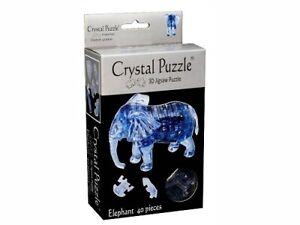 3D Crystal Brain Teaser Puzzle - Elephant