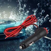 Car Cigarette Lighter Male Socket Plug Connector On 12V/24V Off Switch 1.5m Best