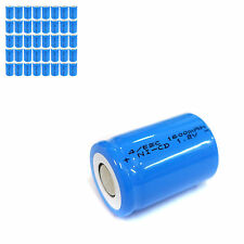 40 pcs 4/5 Sub C SC 1600mAh 1.2V Ni-Cd rechargeable Battery Cell Flat Top Blue