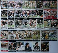 1990 Pro Set Series 1 & 2 Update Los Angeles Raiders Team Set 37 Football Cards