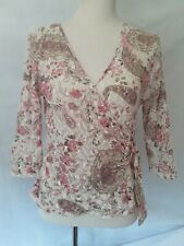 Ladies Size 14 Lace Sheer Floral Top