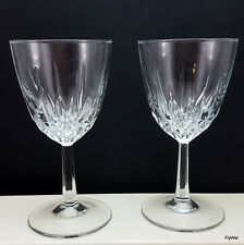 Cristal D'Arques Diamant Claret Wine Glasses Set of 2 Diamond Vertical Cut 6 oz