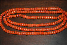 antique old red coral bracelet prayer beads tibet tibetan necklace mala natural