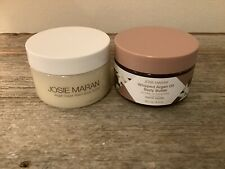 Josie Maran 18oz. Argan Vanilla Bean Scrub & 19 oz. French Vanilla Whipped B.B.